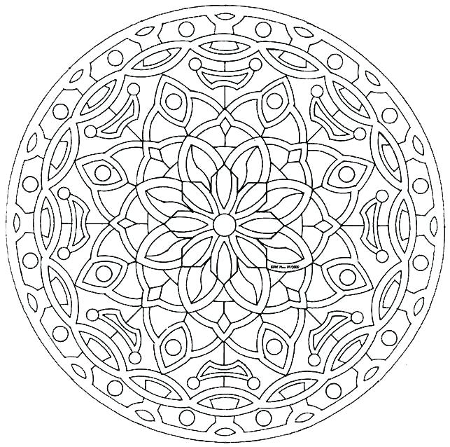 643x638 Complex Coloring Pages Complex Mandala Coloring Pages Printable