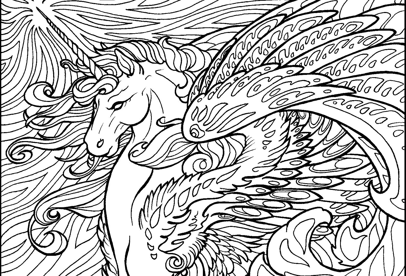 1589x1080 Complex Coloring Pages Of Animals Wagashiya