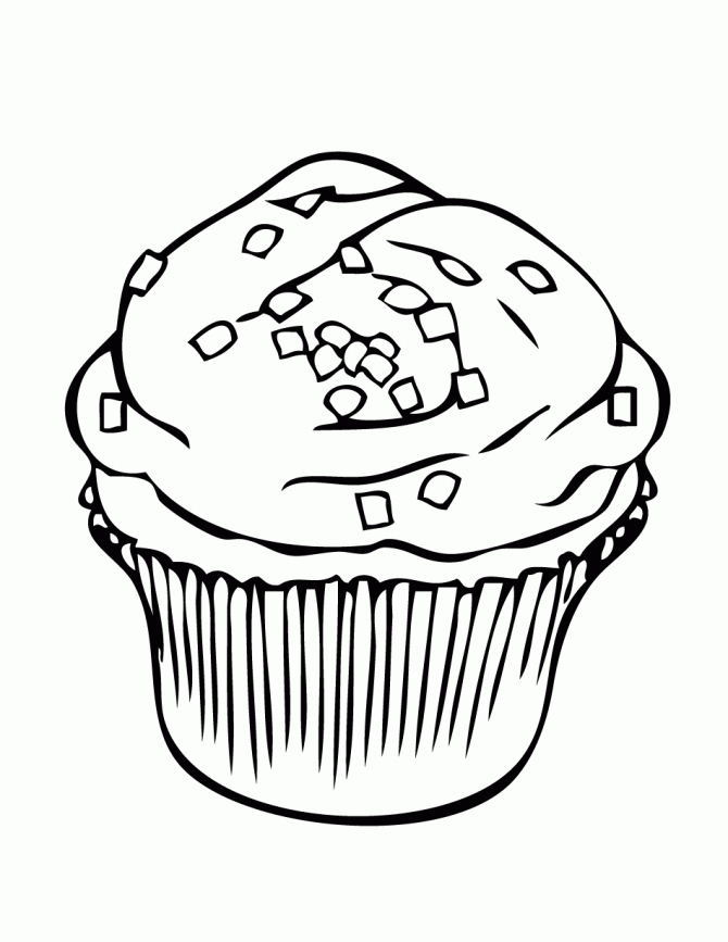 670x867 Cupcake Coloring Page Inspirational Hello Kitty Cupcake Coloring
