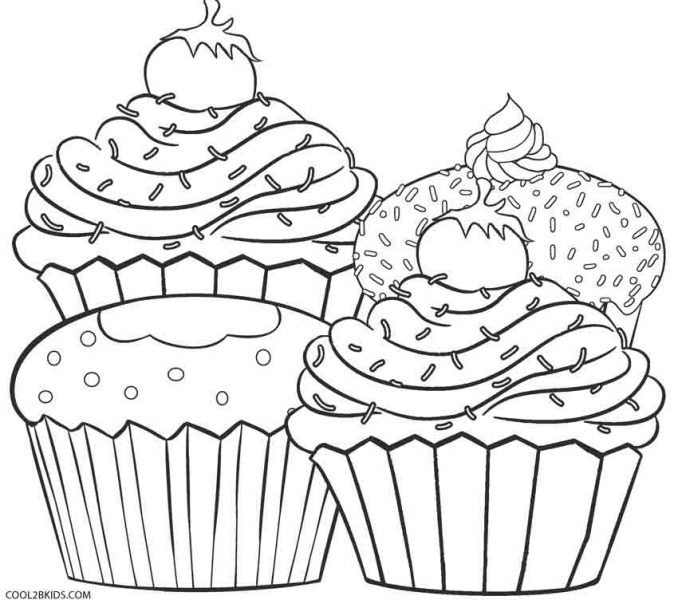 678x600 Cupcakes Coloring Sheets Free Printable Cupcake Coloring Pages