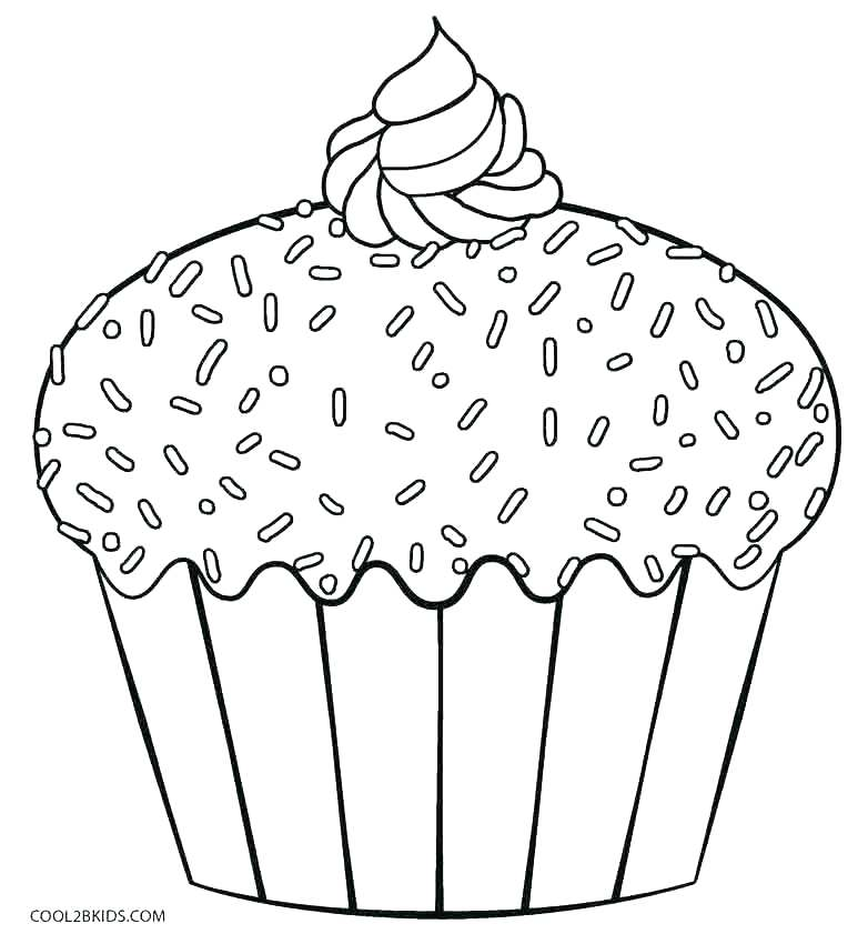 782x850 Coloring Page Of A Cupcake Cake Coloring Pages Cupcake Coloring