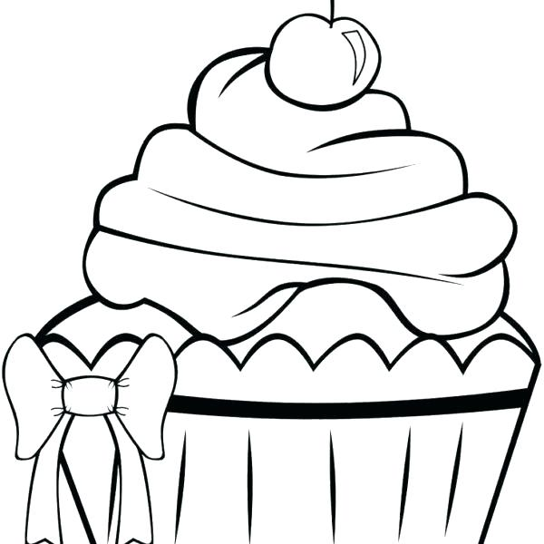 600x600 Cute Cupcake Coloring Pages Cupcakes Coloring Pages Say It