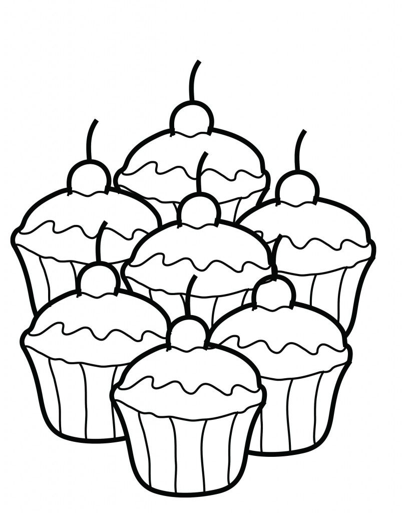 805x1024 Free Printable Cupcake Coloring Pages For Kids Colorear