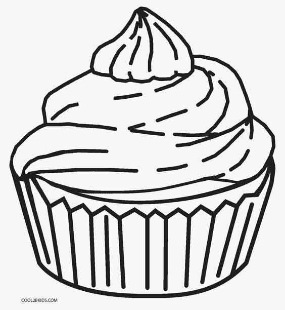 564x612 Free Printable Cupcake Coloring Pages For Kids