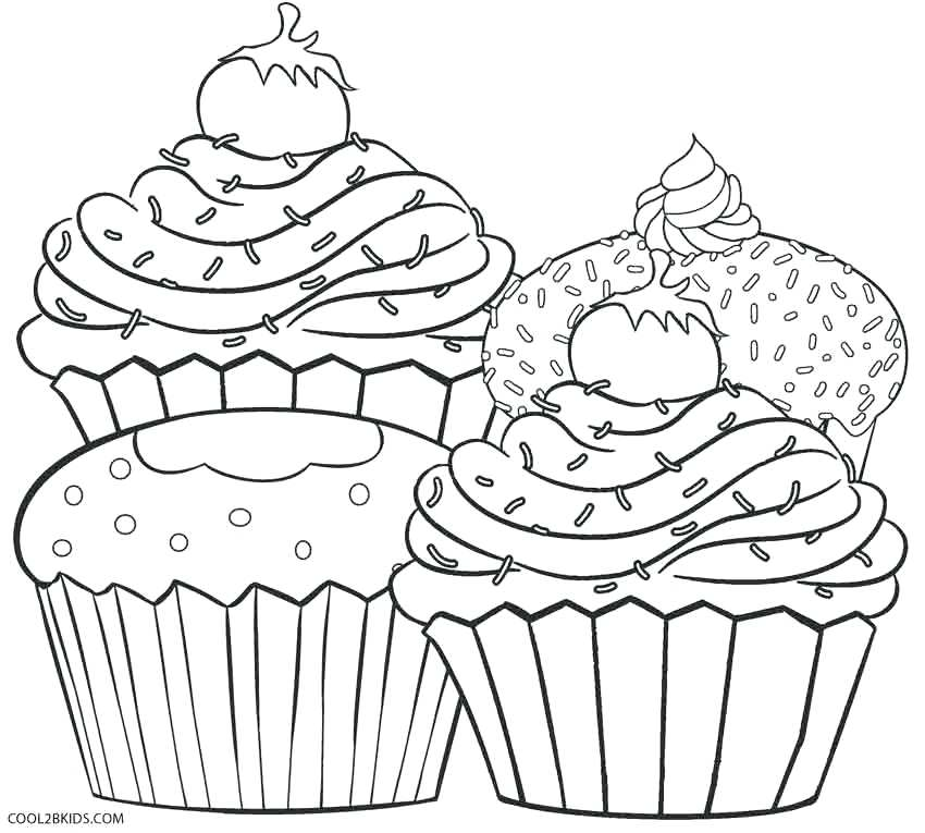 850x765 Coloring Pages For Free Cupcake Coloring Pages Free Free Printable