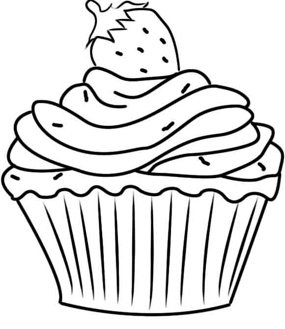 580x669 Cupcake Coloring Page Awesome Printable Cupcake Coloring Pages