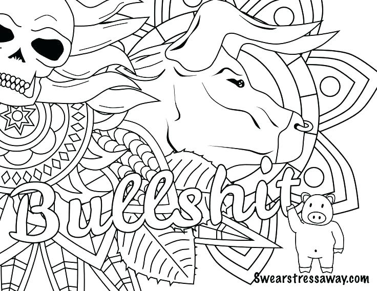 736x568 Free Printable Curse Word Coloring Pages Printable Swear Words