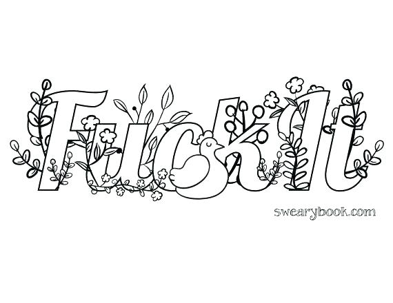 570x440 Free Swear Word Coloring Pages Printable Unique Swear Word