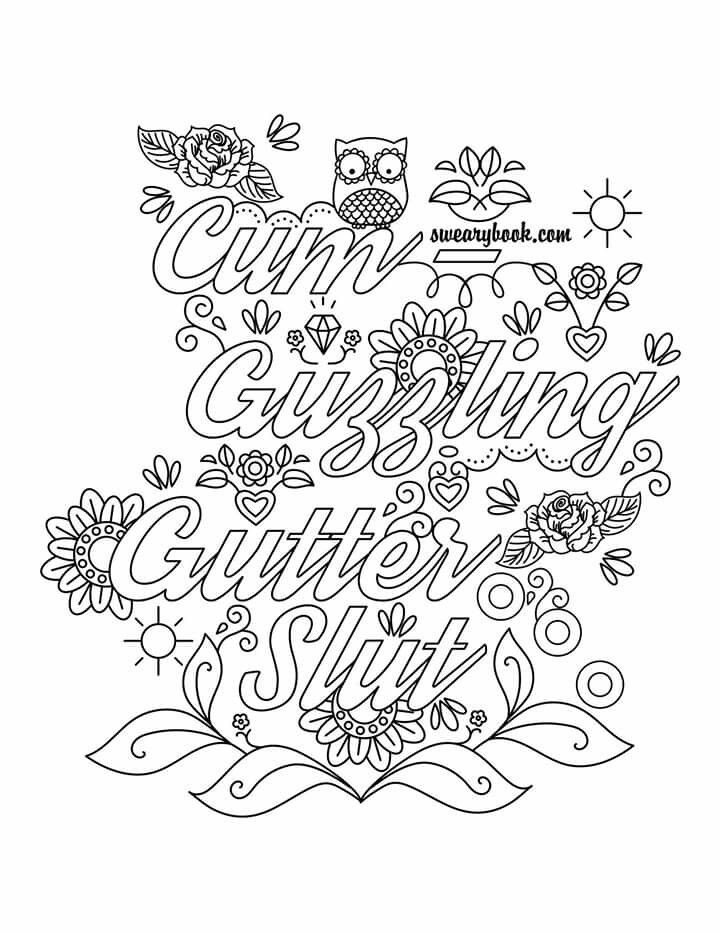 Printable Curse Word Coloring Pages At Getdrawings Free Download