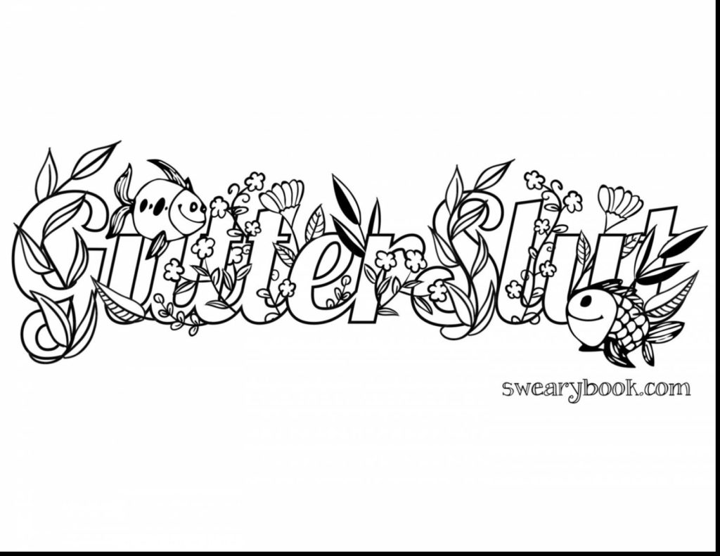 1024x791 Printable Swear Word Coloring Pages Free S Brilliant Adult