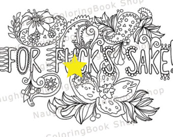 340x270 Swear Word Coloring Page Graduation Gift Printable Coloring