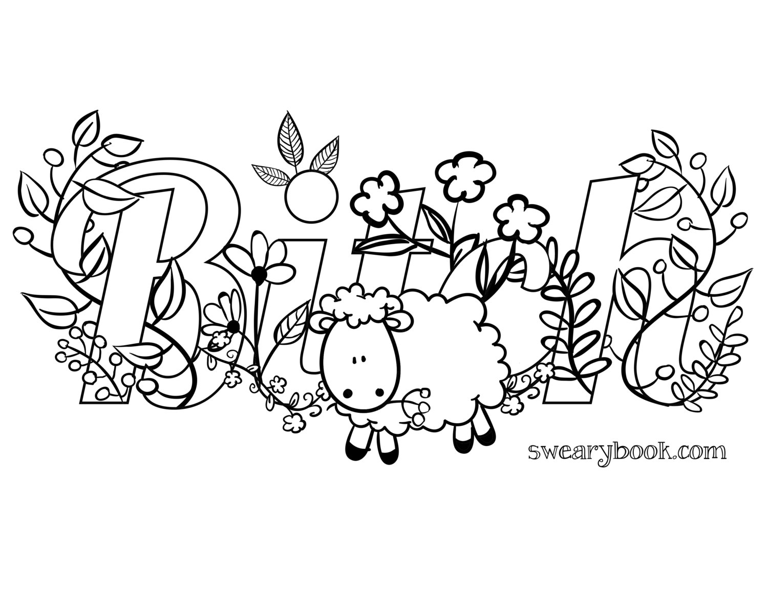 1500x1159 Swear Word Coloring Pages Printable