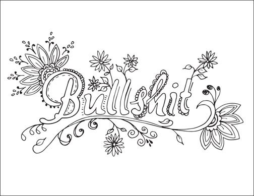 504x389 Free Printable Swearing Coloring Page Coloring Pages For Grown