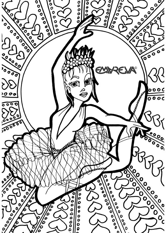 567x794 Dance Coloring Pages Printable