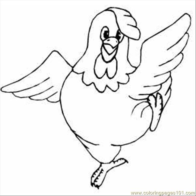 650x650 Dancing Chicken Coloring Page