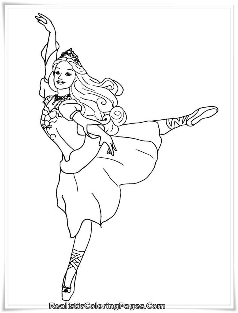 824x1080 Barbie And The Dancing Princesses Coloring Page