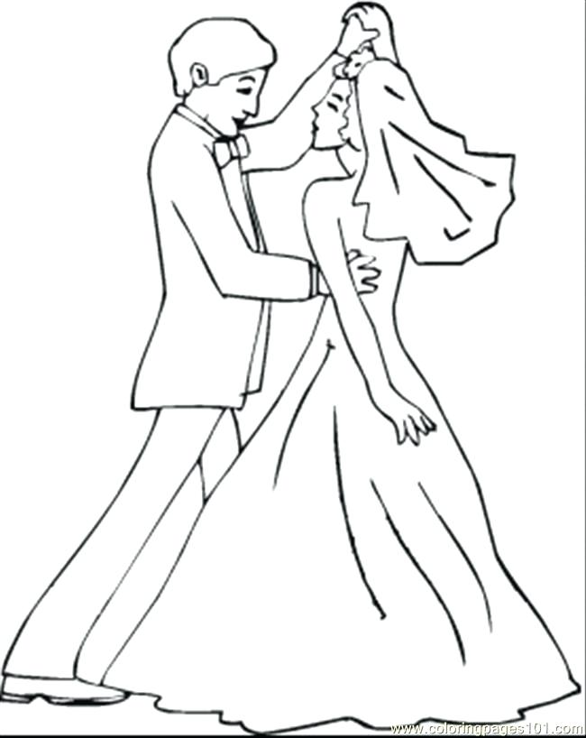 650x818 Dance Coloring Page