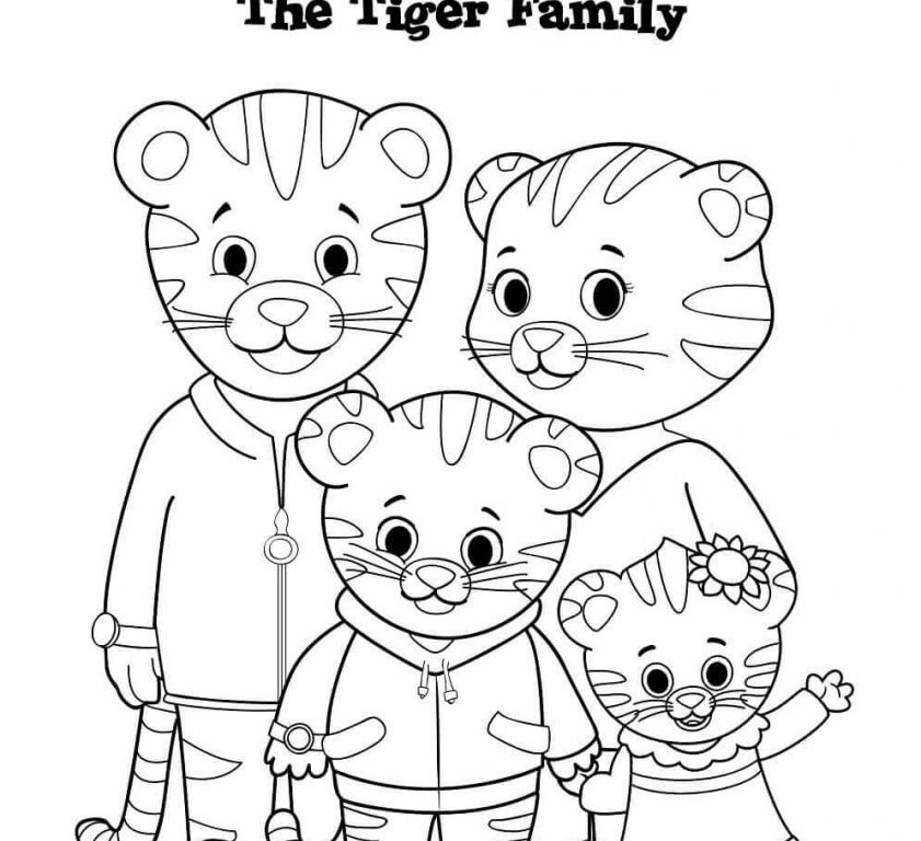 picture about Daniel Tiger Printable called Printable Daniel Tiger Coloring Webpages at