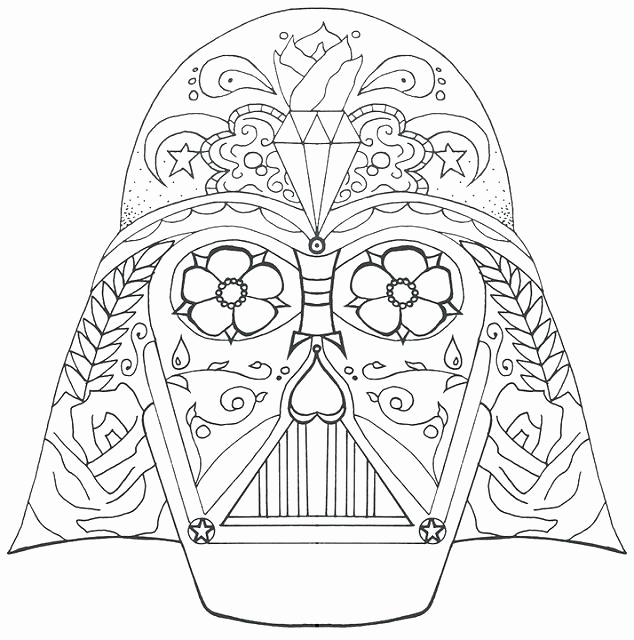 634x640 Luxury Of Printable Darth Vader Coloring Pages Stock
