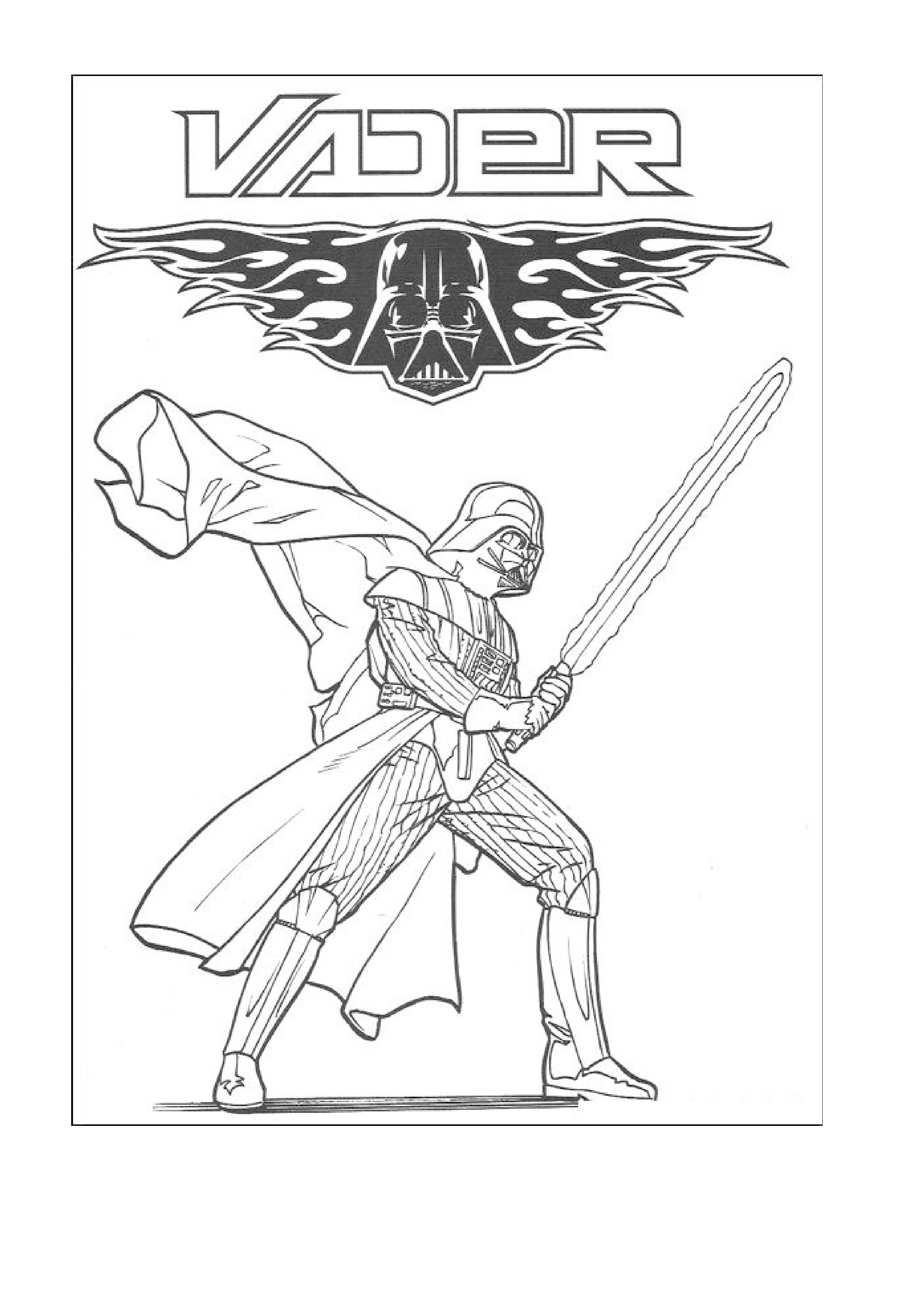 2480x3507 Full Printable Darth Vader Coloring Pages To Inside Page Capricus