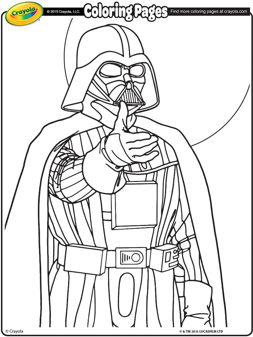 810x1080 Star Wars Darth Vader Coloring Page