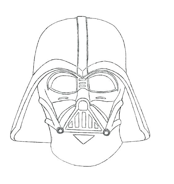 564x596 Darth Vader Coloring Page