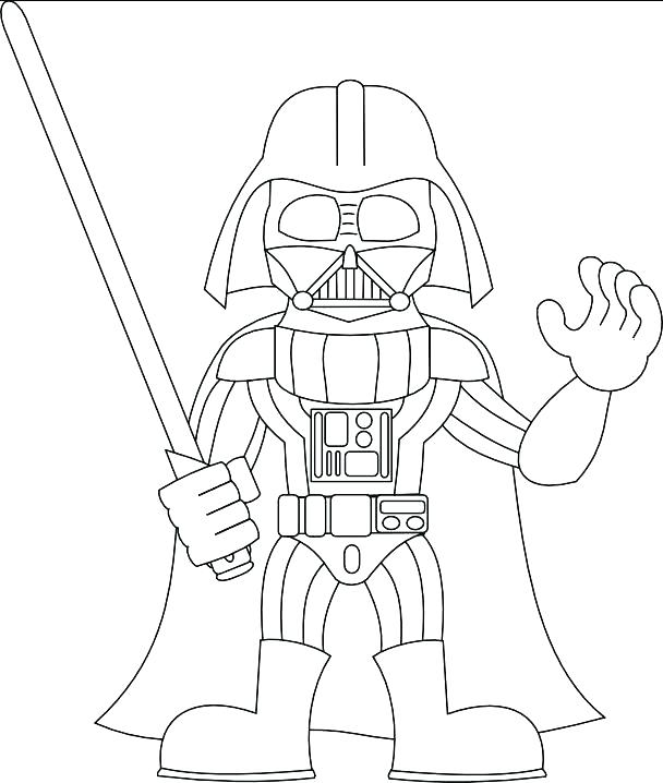 608x718 Darth Vader Coloring Page Coloring Sheet Coloring Pages Collection