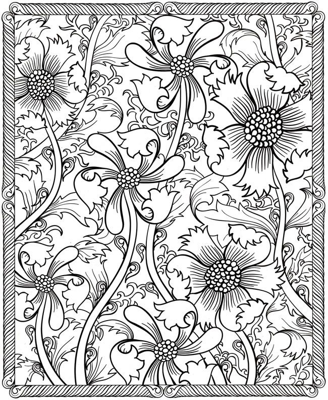 Printable Detailed Pattern Coloring Pages