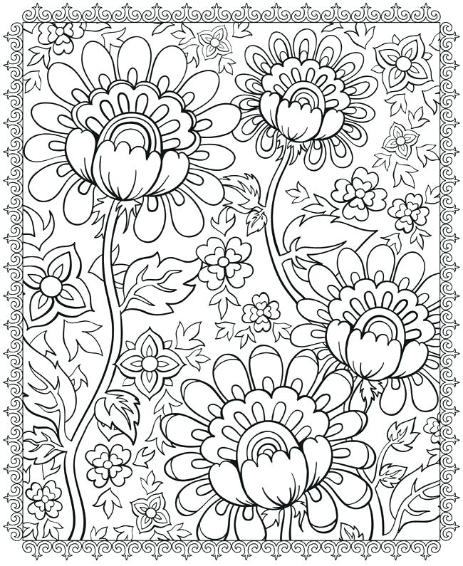 650x795 Flower Design Coloring Pages Amazing Flower Pattern Coloring Pages