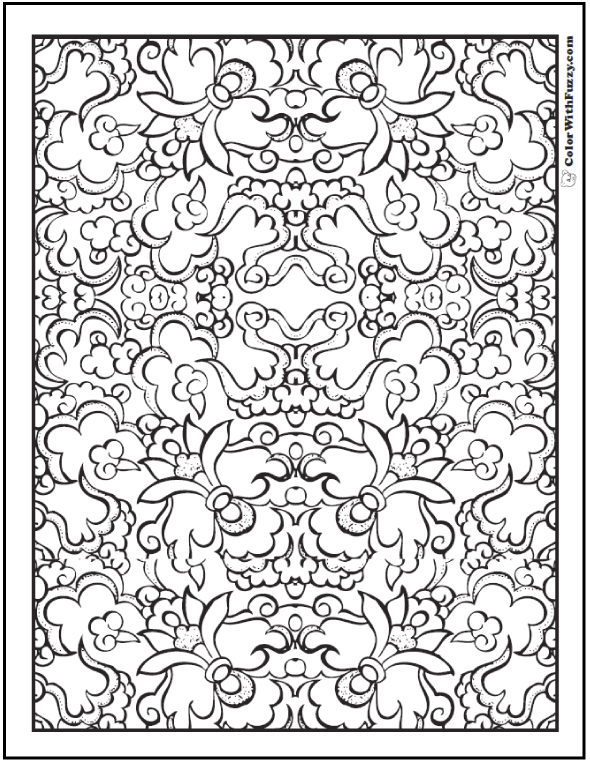 590x762 Pattern Coloring Pages Customize Pdf Printables