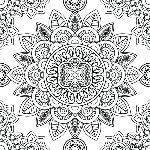500x500 Pattern Coloring Pages Ethnic Seamless Pattern Coloring Pages