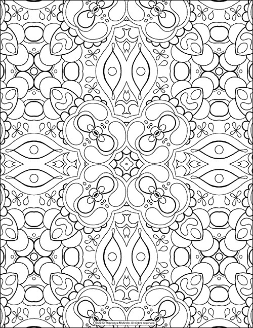500x647 These Printable Mandala And Abstract Coloring Pages Relieve Stress