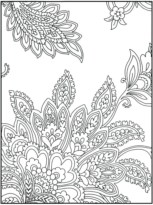 650x872 Design Coloring Pages Paisley Pattern Coloring Pages To Print Free
