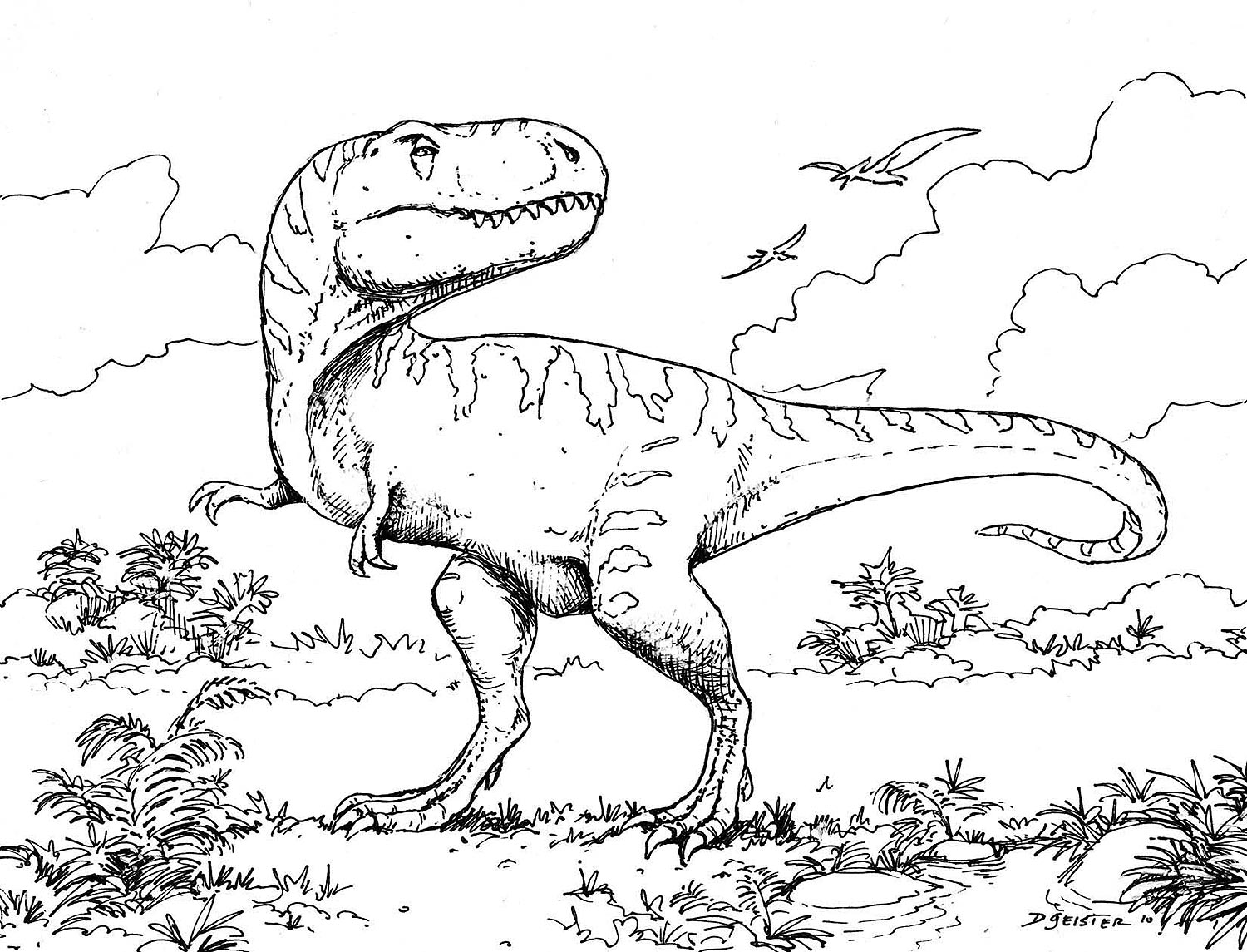 1500x1145 Printable Dinosaur Coloring Pages