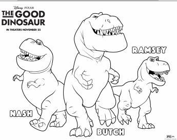 345x273 The Good Dinosaur Printable Activities