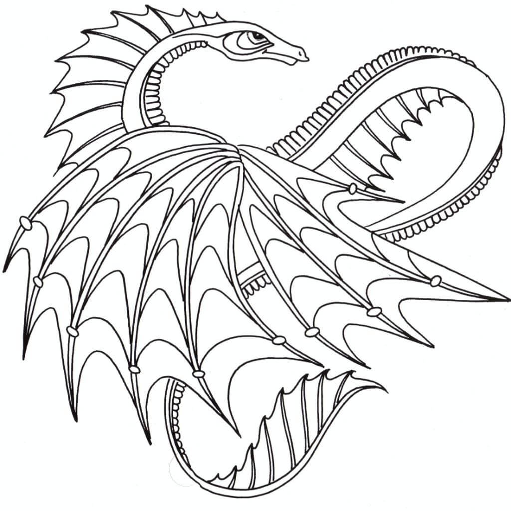 Printable Dragon Coloring Pages For Adults at GetDrawings ...