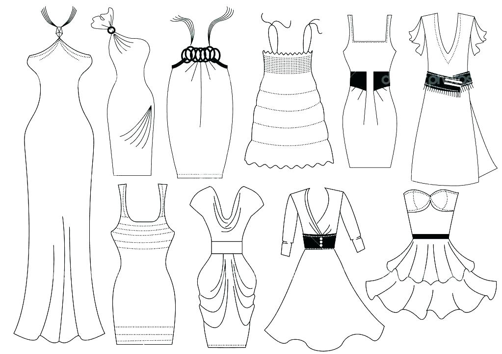1023x723 Dress Coloring Page Dress Up Coloring Pages Dress Coloring Page