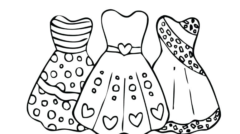 770x430 Dress Coloring Page Image Detail For Printable Dress Coloring