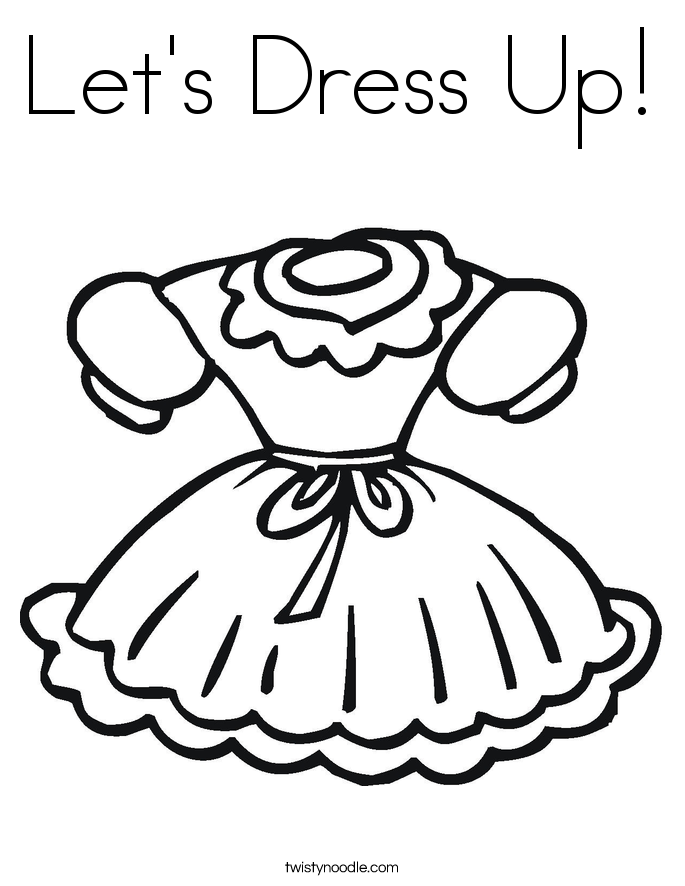 685x886 Let's Dress Up Coloring Page