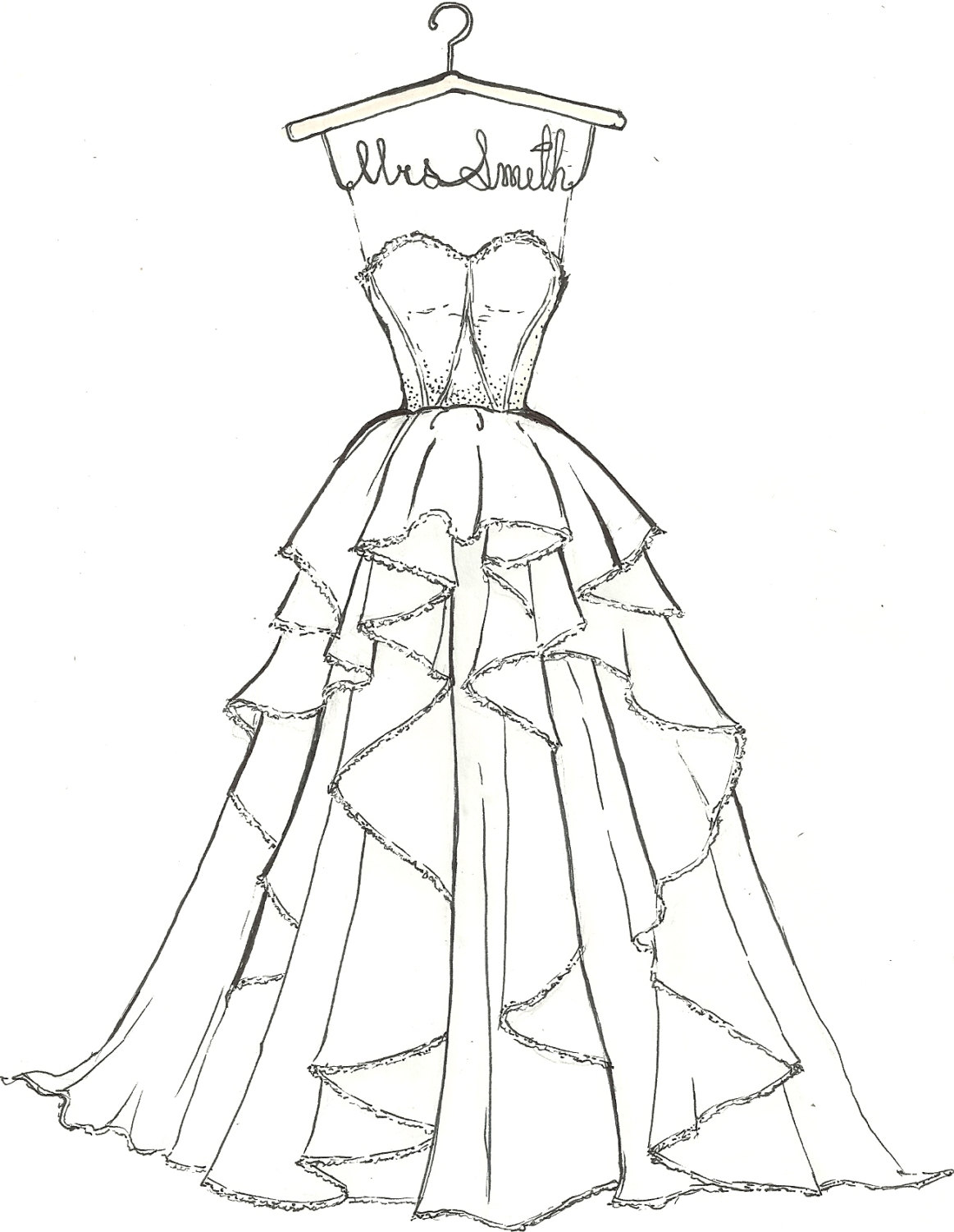 Printable Dresses Coloring Pages At Getdrawings Com Free For