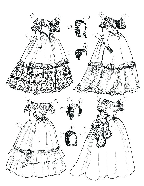 600x778 Design Your Own Dress Coloring Pages Dress Coloring Pages Wedding