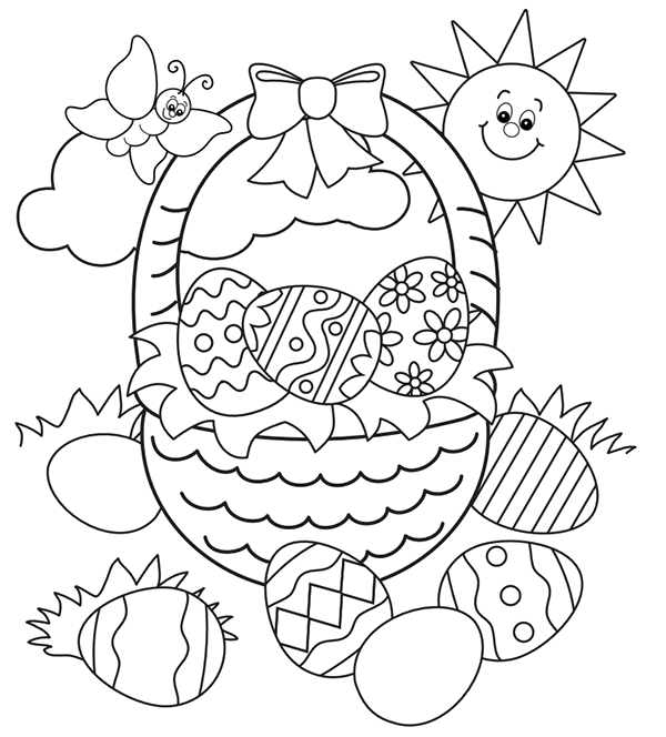 600x664 Free Easter Colouring Pages