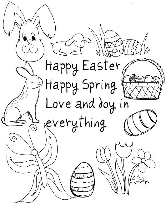 531x650 Easter Coloring Pages Toddlers Animal Easter