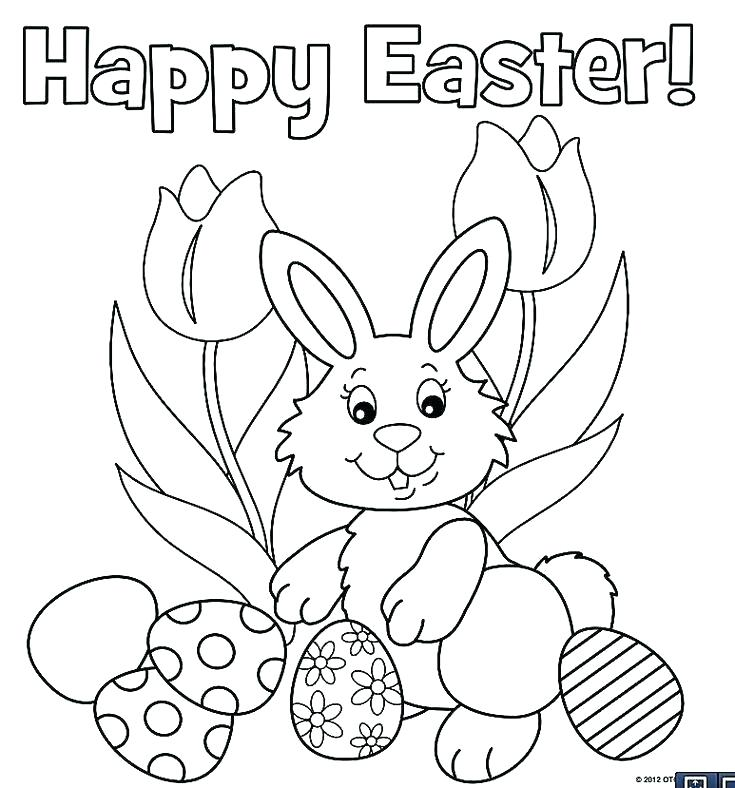735x788 Printable Easter Coloring Pages