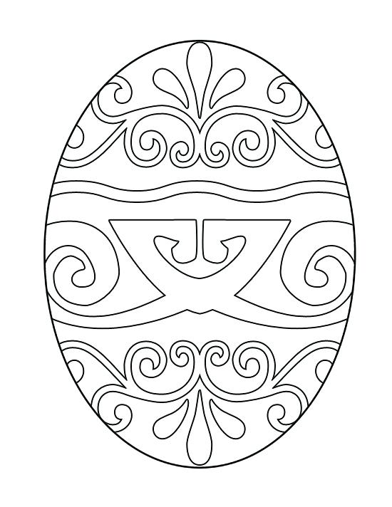 550x712 Easter Eggs To Print And Color Free Egg Print Out Coloring Book