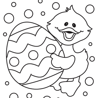 340x340 Free Printable Easter Egg Coloring Pages