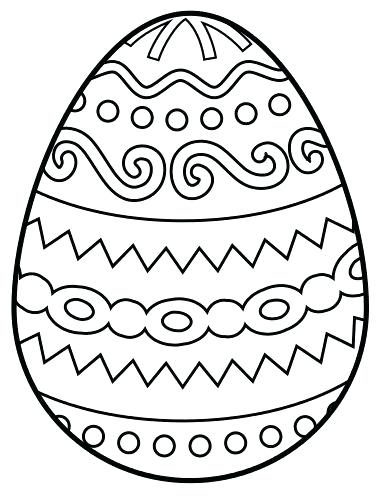 390x503 Easter Egg To Colour In Easter Egg Images To Color Printable Eggs