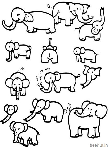 416x565 Elephant Coloring Pages Printable