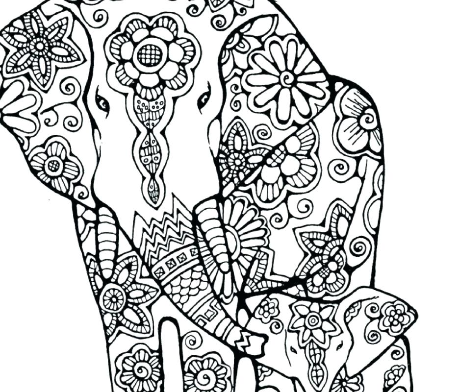 936x800 Printable Elephant Coloring Pages Free Printable Elephant Coloring