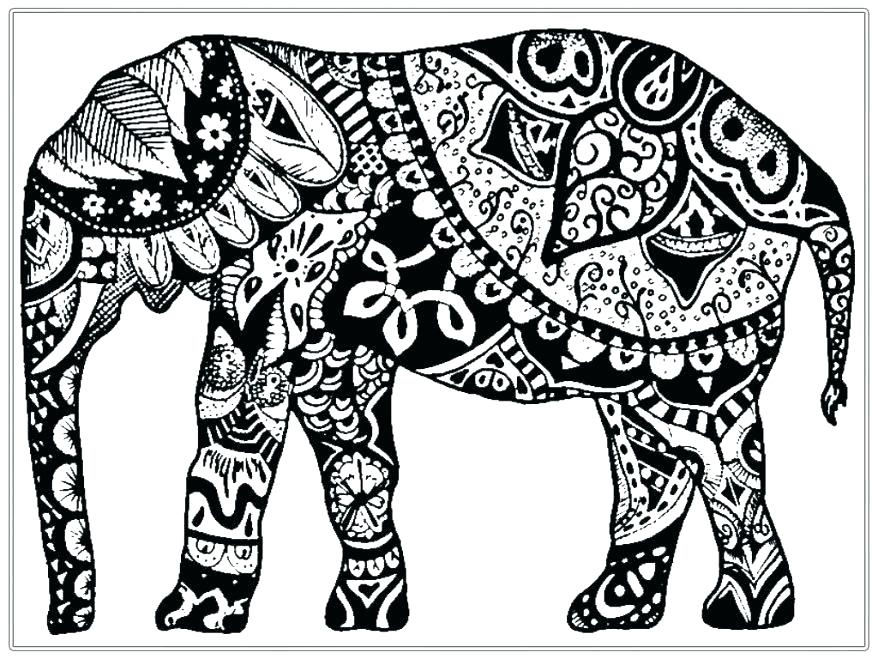 878x659 Printable Elephant Coloring Pages Pretty Printable Elephant